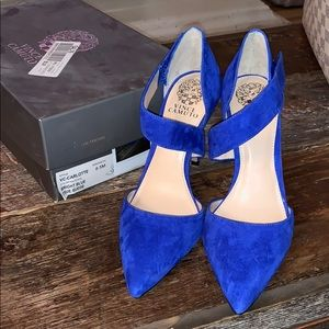 Vince Camuto Blue Suede Shoes - 8.5 Charlotte